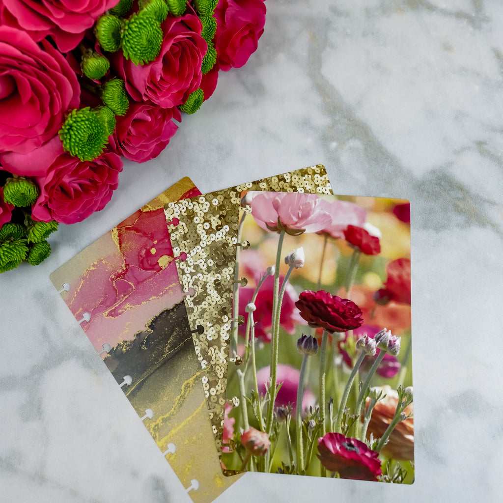 Glam floral card stock dashboards by Jane's Agenda