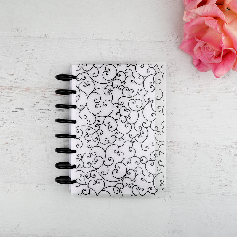 Discbound Vellum Planner Cover Flourish by Jane&