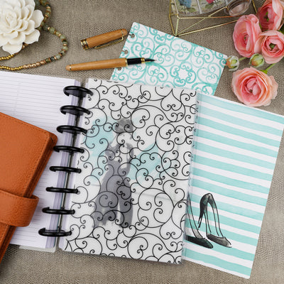 A flourish of tiny tendrils design, printed planner dashboard for discbound and six ring planner systems by Jane's Agenda®.