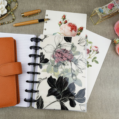 Magnolia floral printed planner dashboard for discbound and six ring planner systems by Jane's Agenda®.