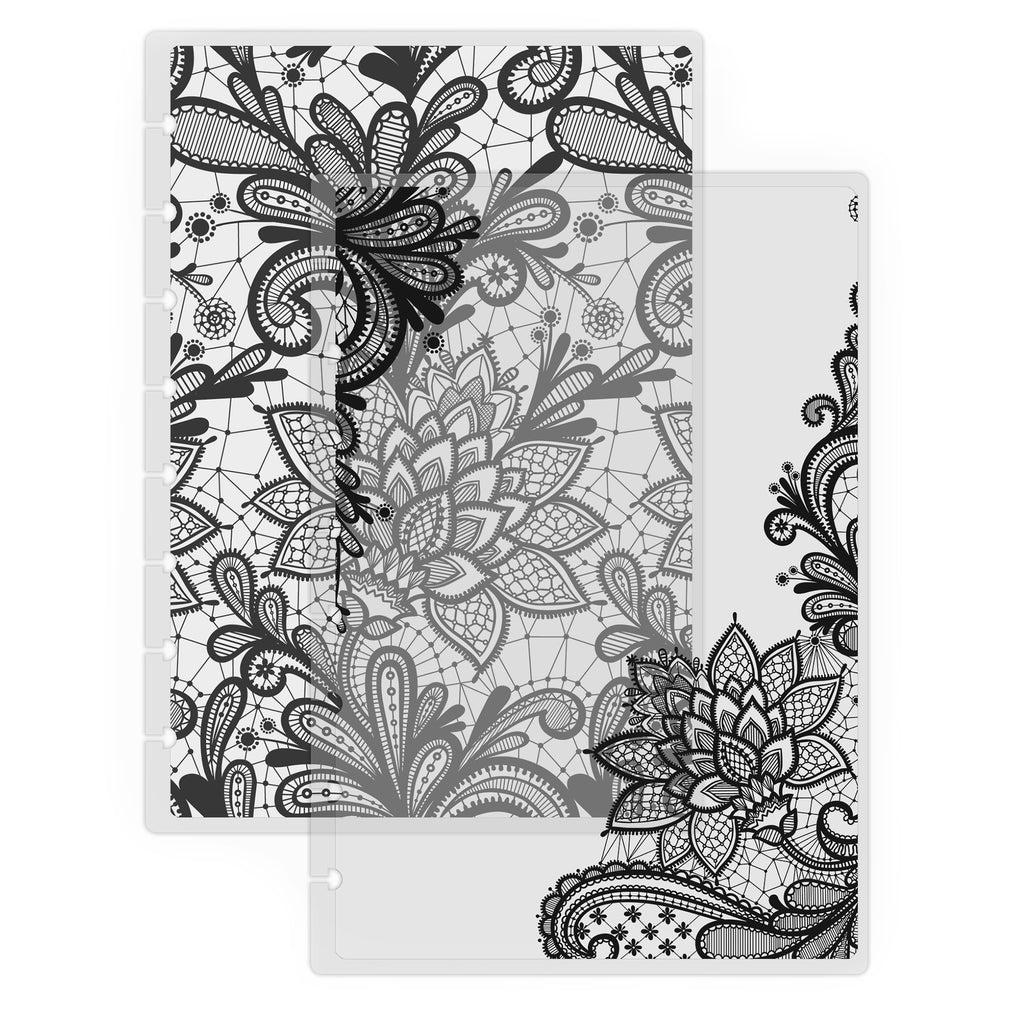 Lace Translucent Vellum Planner Cover by Jane's Agenda® for discbound cardstock planner systems.