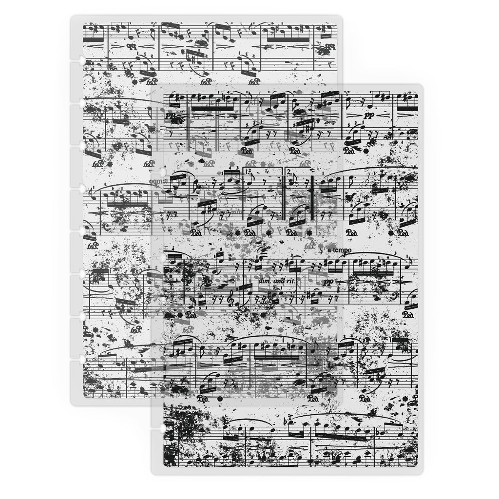 Music notes Vellum Planner Cover by Jane's Agenda