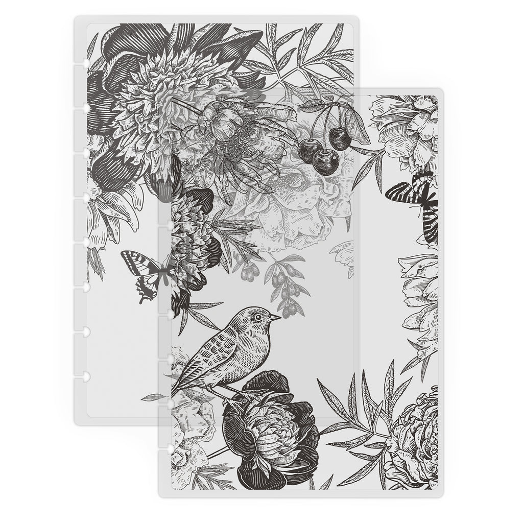 Vintage Floral Vellum Clear Translucent Planner Cover by Jane's Agenda