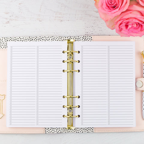 Notes Planner Inserts No. 10 | Lists by Jane's Agenda