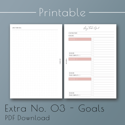 Goals Printable Planner Inserts by Jane's Agenda