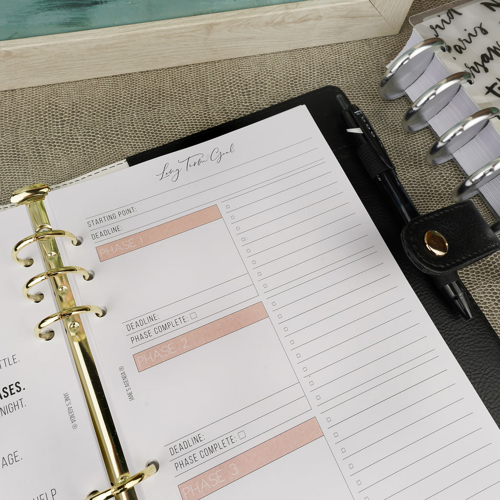 Extra Planner Insert Number 3: Smart Goals by Jane's Agenda®
