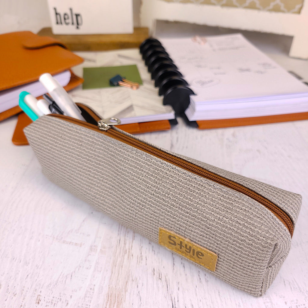 Textured pen bag for containing all your pens and accessories by Jane's Agenda