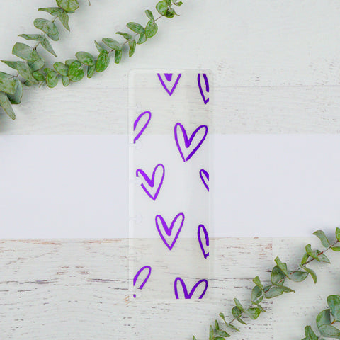 Hearts | Vellum Page Finder | Purple Foil
