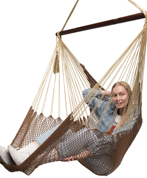 Large Mayan Hammock Chair (Mocha Brown)