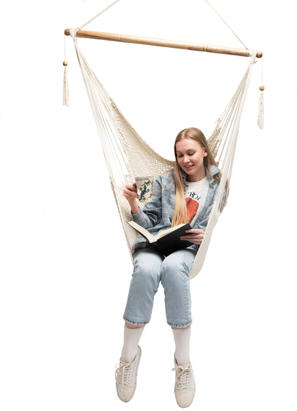 Large Mayan Hammock Chair (Natural White)