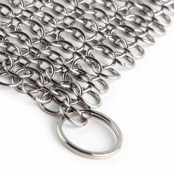 Stainless Steel Chainmail Scrubber for Cast Iron Pans