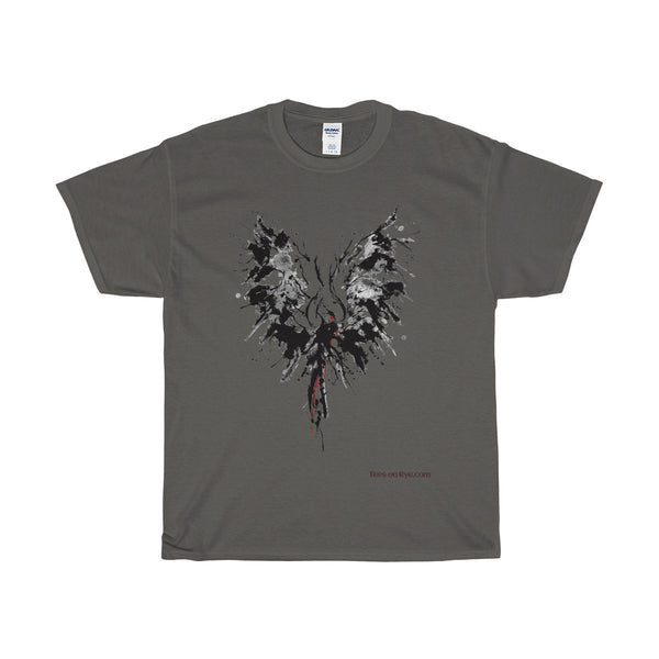 Abstract Phoenix on a Heavy Cotton T-Shirt