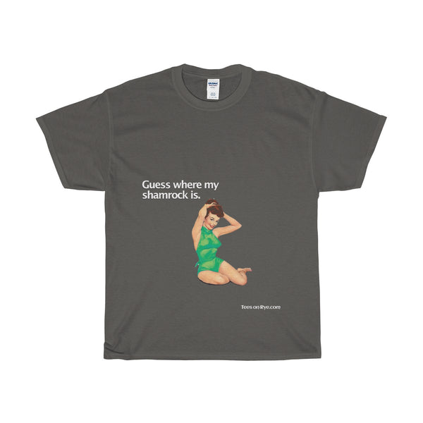 Irish Pinup on a Heavy Cotton T-Shirt