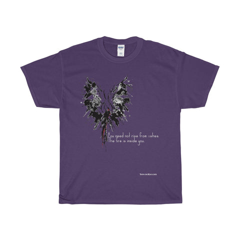 Abstract Phoenix with Inspiration on a Heavy Cotton T-Shirt