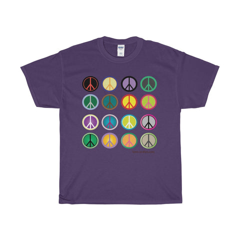 Express Peace on this Heavy Cotton T-Shirt