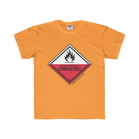 Danger Spontaneously Combustible! Youth Regular Fit Tee