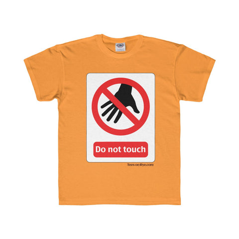 Danger Do Not Touch this Youth Regular Fit Tee