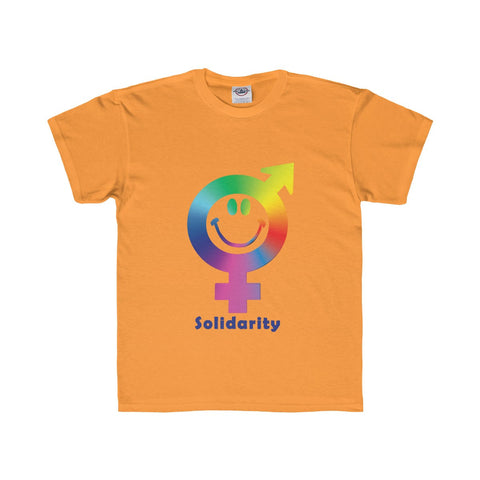 Even kids can express Solidarity with this Youth Regular Fit Tee
