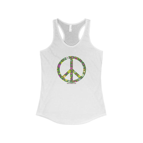 Flowerful Peace Sign on The Ideal Racerback Tank