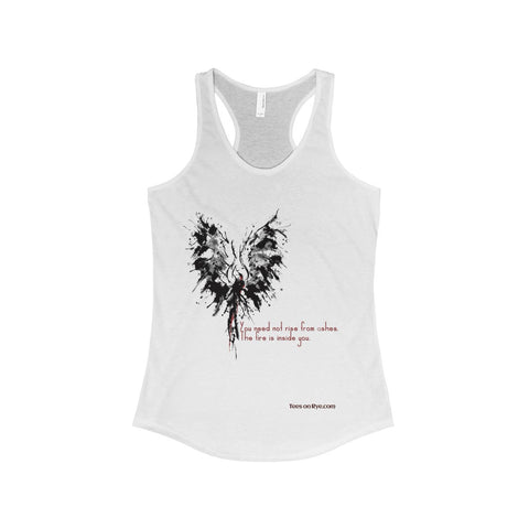 Abstract Phoenix with Inspiration on The Ideal Racerback Tank