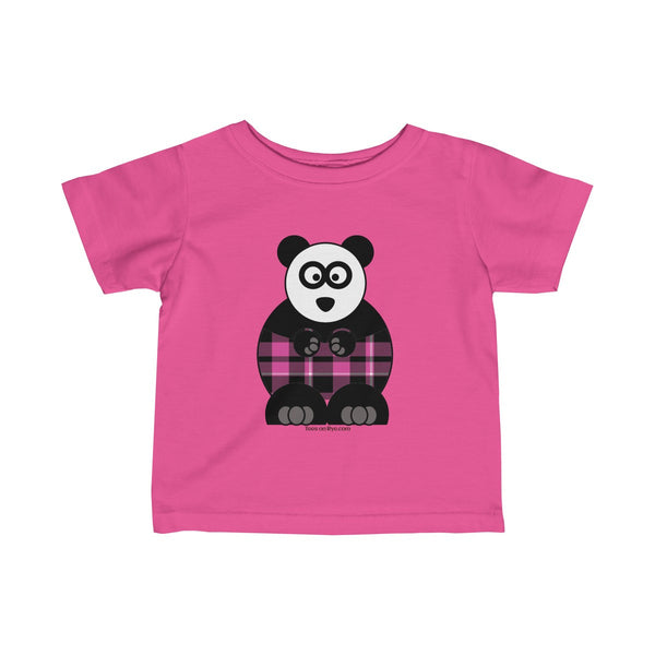 Plaid Panda on an Infant Fine Jersey Tee