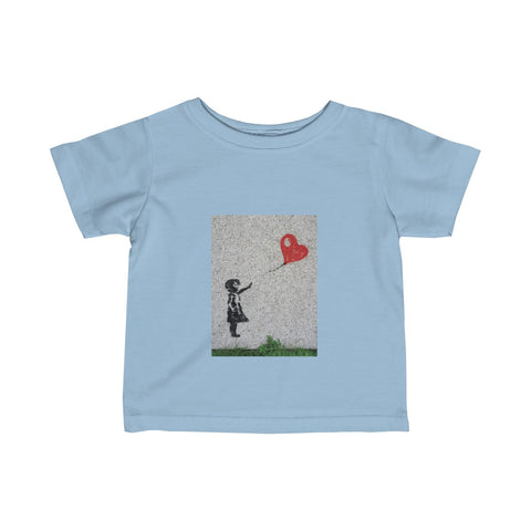 Love flies free.  On a Infant Fine Jersey Tee