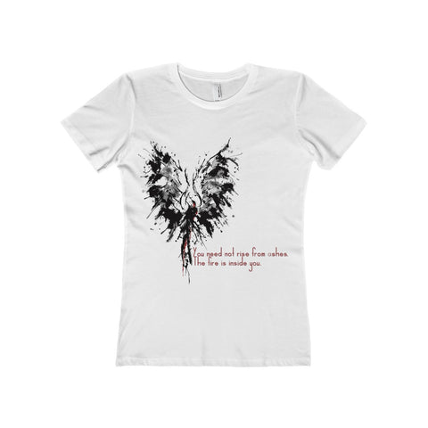 Abstract Phoenix with Inspiration on a Boyfriend Tee
