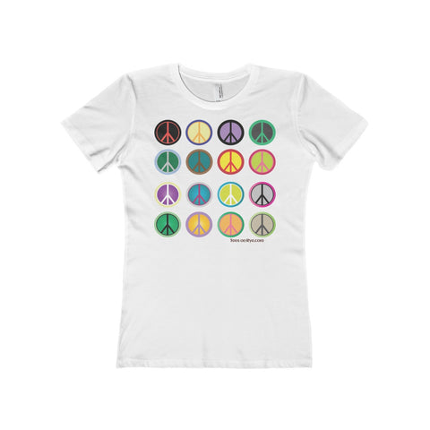 Express peace on The Boyfriend Tee for women
