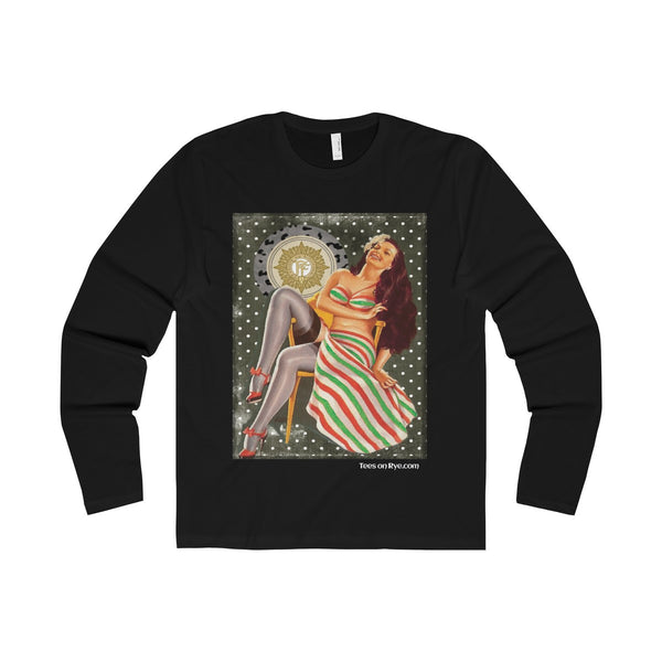 Irish Volunteer Pinup on a Premium Long Sleeve Crew