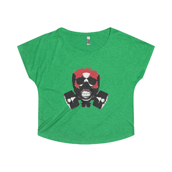 Rock this apocalyptic skull on a Tri-Blend Dolman Tee Shirt