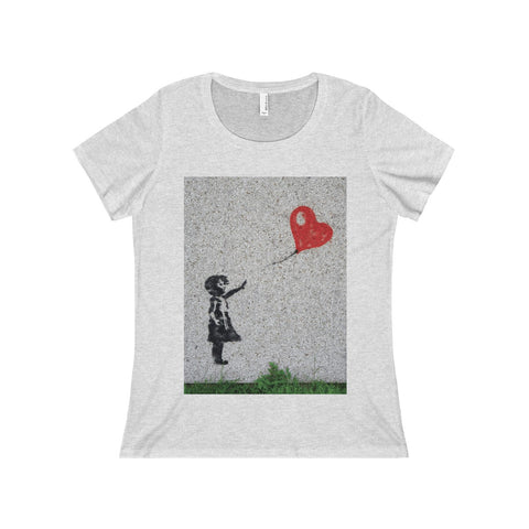 Love flies free.  On a Women's Relaxed Jersey Short Sleeve Scoop Neck Tee