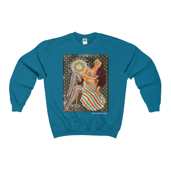 Irish Volunteer Pinup on a Heavy Blend™ Adult Crewneck Sweatshirt