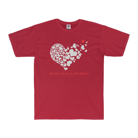 My love for you is unbounded...on an Adult Surf Tee