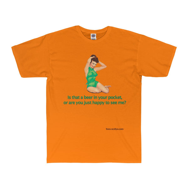 Irish Pinup on an Adult Surf Tee