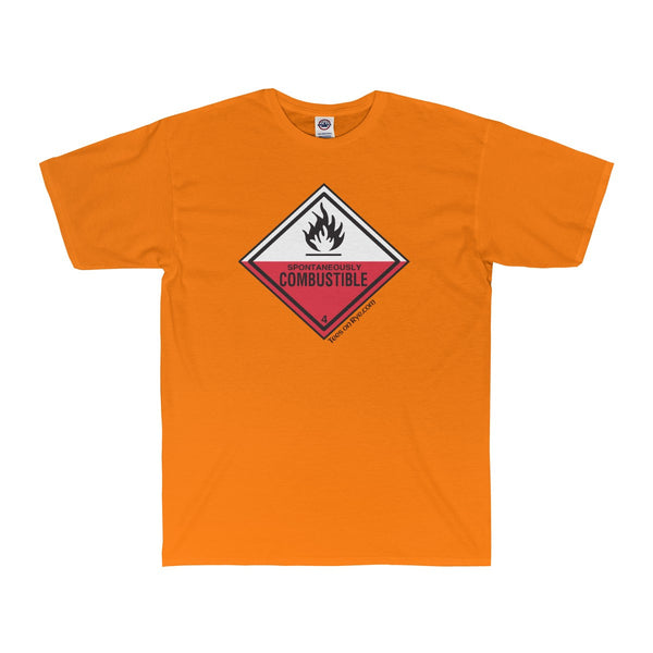 Danger Spontaneously Combustible!  Adult Surf Tee