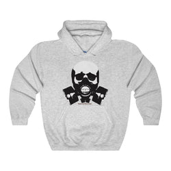 Rock this B&W version of our apocalyptic skull on a Heavy Blend Hooded Sweatshirt