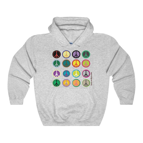 Express Peace on this Heavy Blend Hooded Sweatshirt