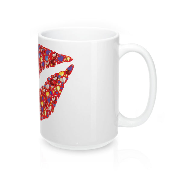A colorful kiss on a Mug 15oz