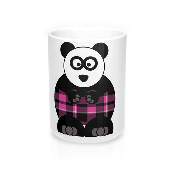 Plaid Panda on a Mug 15oz