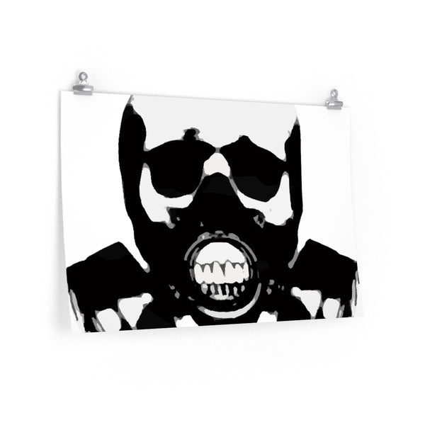 Rock this B&W version of our apocalyptic skull on a Poster