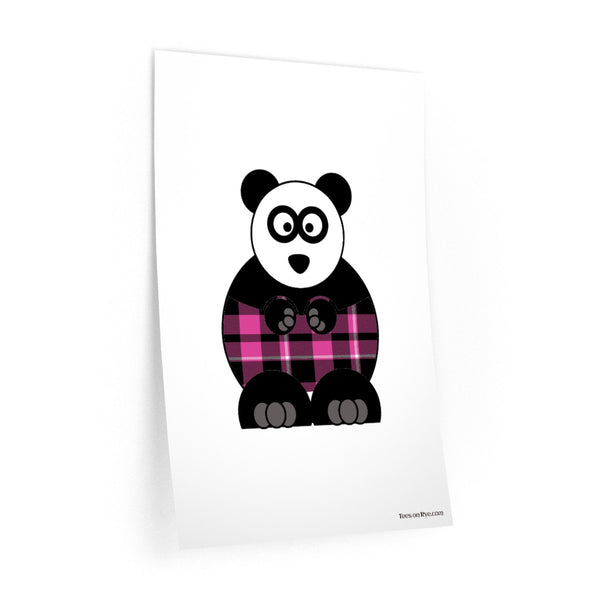 Plaid Panda on Wall Decals