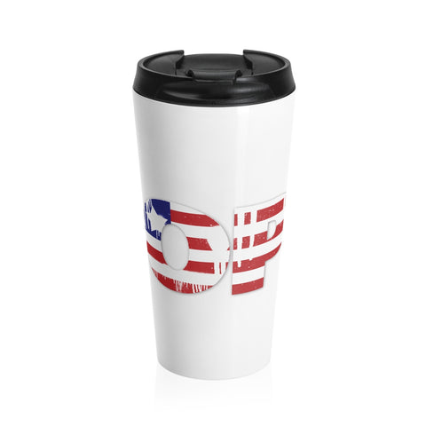 Hope is American.  As is this Stainless Steel Travel Mug