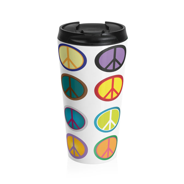 Express Peace on this Stainless Steel Travel Mug