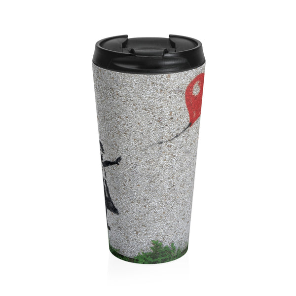Love flies free.  On a Stainless Steel Travel Mug
