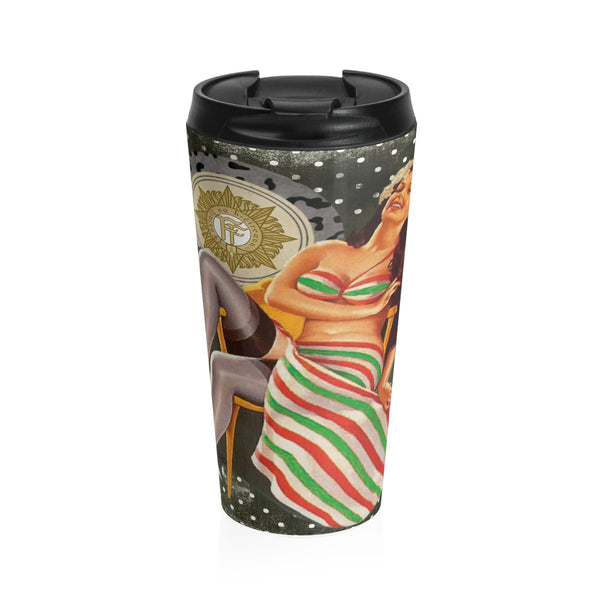 Irish Volunteer Pinup on a Stainless Steel Travel Mug