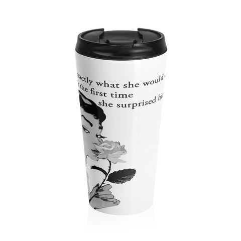 Be surprising with this Stainless Steel Travel Mug