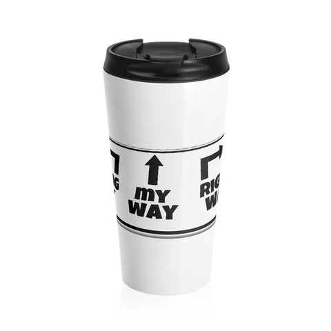 Go My Way with this Stainless Steel Travel Mug