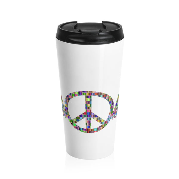 Wings of Peace on a Stainless Steel Travel Mug