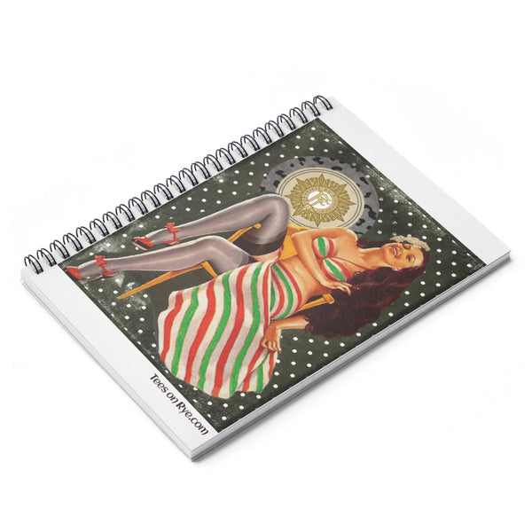 Irish Volunteer Pinup on a Spiral Notebook - Ruled Line