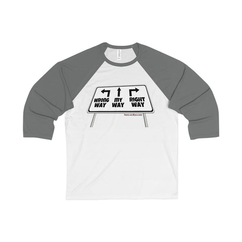Go My Way with this Unisex 3/4 Sleeve Baseball Tee